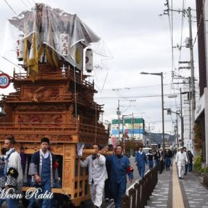 洲之内だんじり(屋台) 西条駅付近 伊曽乃神社祭礼 西条祭り2019 愛媛県西条市大町
