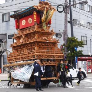 若草町だんじり(屋台) 西条駅付近 伊曽乃神社祭礼 西条祭り2019 愛媛県西条市大町