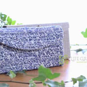 晩夏のコーディネートに!水色~青の上品で洗練された大人可愛いイメージの色で作ったバッグと小物たち