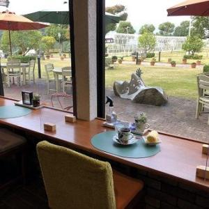 タオルに囲まれたあとは、素敵なお庭を見ながらまったりタイム「ガーデンカフェ」INタオル美術館