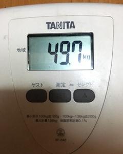 BEST体重と今の体重