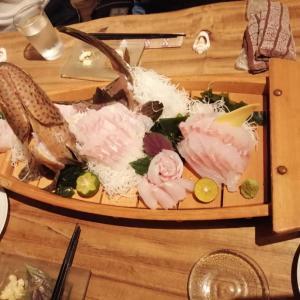 釣った魚をお店で石垣のお店で食す