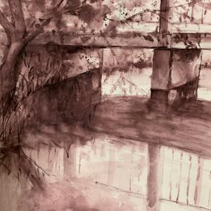狭山池副池を描く またまた一色で(^^;;