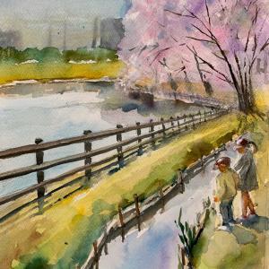 狭山池副池 花咲かばーさん