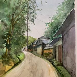 久しぶりのスケッチ会 竹内街道