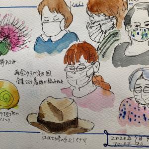 メモリーイラストNo.35 再開クラブ初日
