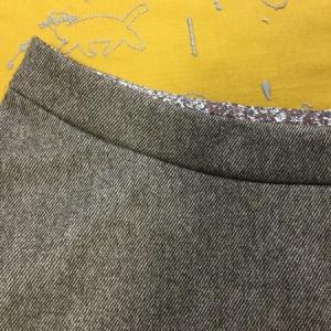 【クルール】ウールツイルのフレアスカートを縫いました♪