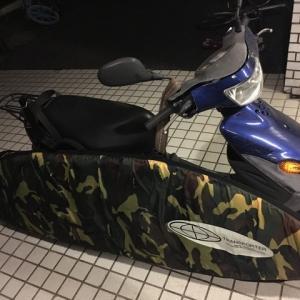 バイクのサーフボードキャリア