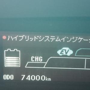 74000キロっスm(__)m