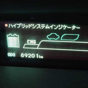 プリウスオイル交換とタイヤローテーション  89201キロ 俺夏式で交換ッス