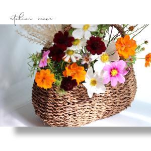 秋の花籠レッスン♪