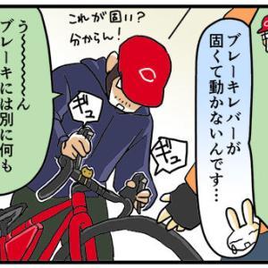 [4コマ]ロードバイクノート10・3回目のレンタルその2 自転車屋さんへ戻る