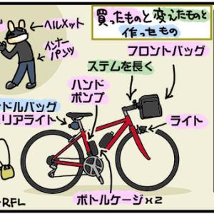 [4コマ]クロスバイクな日々159・準備完了!