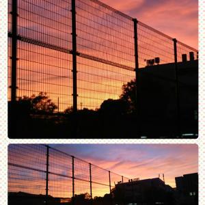 学校守衛物語ー75 《綺麗な夕焼け》