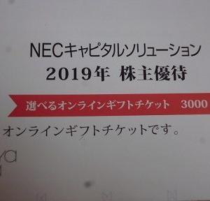 8793 NECキャピタルより優待品