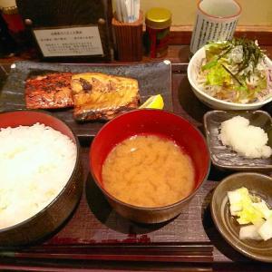 西新宿 白飯わしわし食べる炭火焼き魚のお昼ごはん