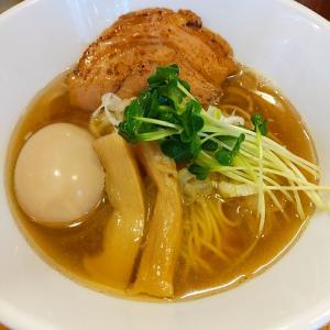 中野 細硬ストレート麺煮干しそばを一気食い