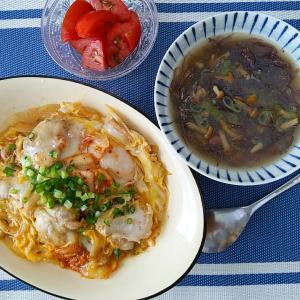 おうち とろ〜り卵の親子丼とふのりのお味噌汁