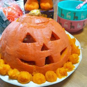 実家 かぼちゃとジスターブロック