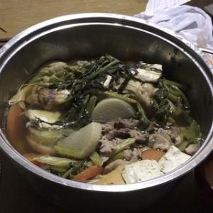 ☆ズボラ主夫の簡単レシピ(40):豚小間と真鱈(タラ)の寄せ鍋