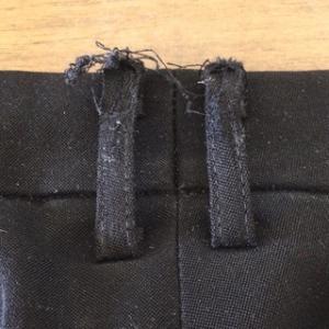 ☆制服ズボン修理:ベルト通しを本革にしたぜ!