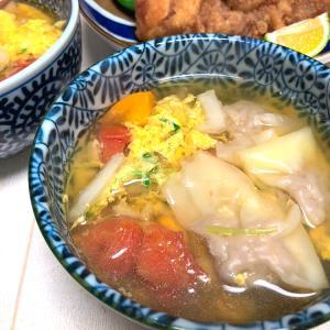 ナンプラーで簡単旨味アップ♪トマトワンタンスープ