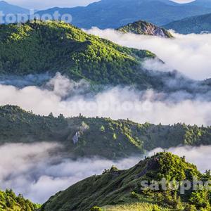 横手山の雲海