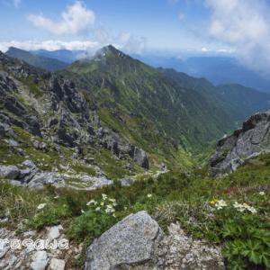 梅雨間の木曽駒ケ岳