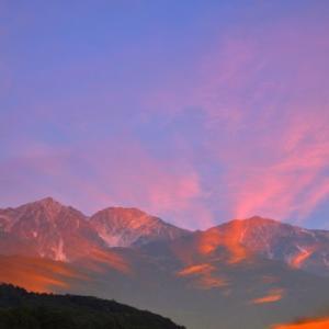 今朝の白馬三山