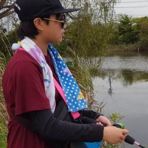 釣りガール発見❗