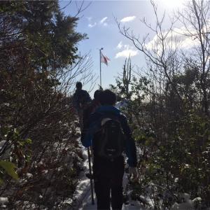 走り納めと雪中山行
