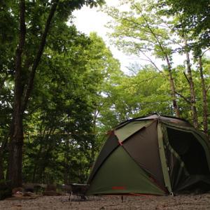 Page382 17回目のテント泊キャンプ~【問題】オートサイトで次のテント・タープを設営する順番を答えない。~