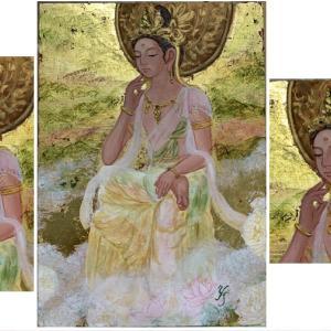 弥勒菩薩を描きました!世界に平安が訪れますように!