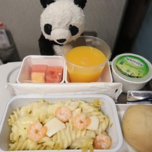 初めてのバリ女一人旅☆エコノミークラス機内食☆キャセイパシフィック バリ→香港→羽田