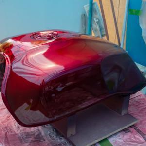 キャンディ塗装  CB1100  DIY 燃料タンク塗装 その⑦