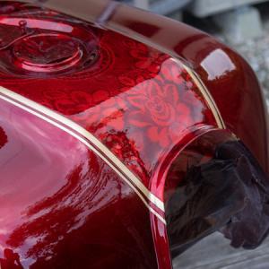 クリアー塗装  CB1100  DIY 燃料タンク塗装 その⑧