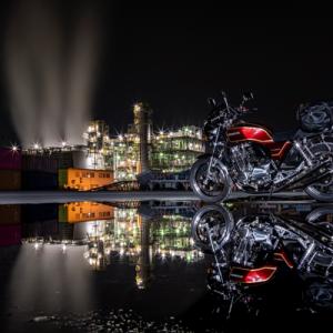 CB1100  オートバイと夜景  とびしま海道ツーリング その①