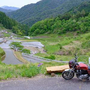 CB1100  井仁の棚田   とびしま海道ツーリング その⑩ 最終話