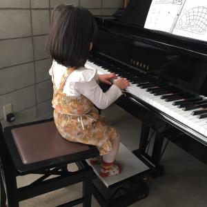 千歳安田ピアノ教室 nagiちゃんとkaeちゃんのレッスン