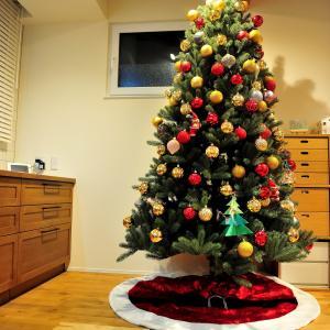 クリスマスツリーを洗いました