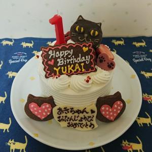 ユカイと合同お誕生会のケーキ♪
