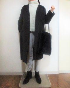 バッグをコートの色と合わせる・・・なんとなく落ち着く(笑)