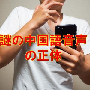 【詐欺注意】非通知からの電話に出ると謎の中国語音声が再生された事件