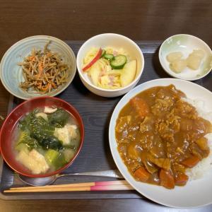 夕ご飯(^^)カレー定食(^^)