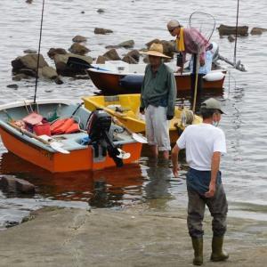 台風が来る前に、ちょいと釣りに行ってくるぜーってかっ♪