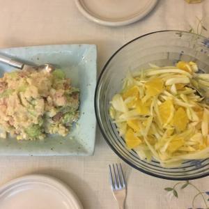 テイクアウトお寿司と手作りおつまみでワイワイ夕食