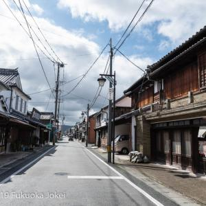 福岡 スナップ写真 八女 福島 古民家のある街並み