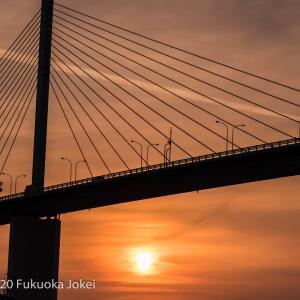 博多湾 風景写真 須崎埠頭夕景