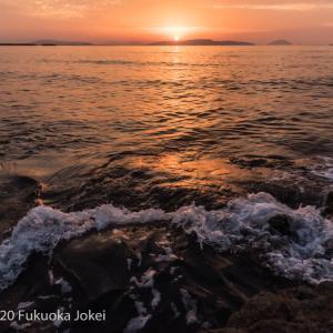 福岡風景写真 玄海灘 三苫海岸の夕景
