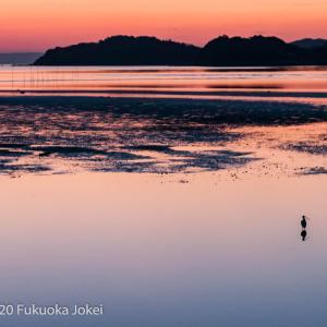 福岡心象風景 糸島 静かな冬の海 夕景
